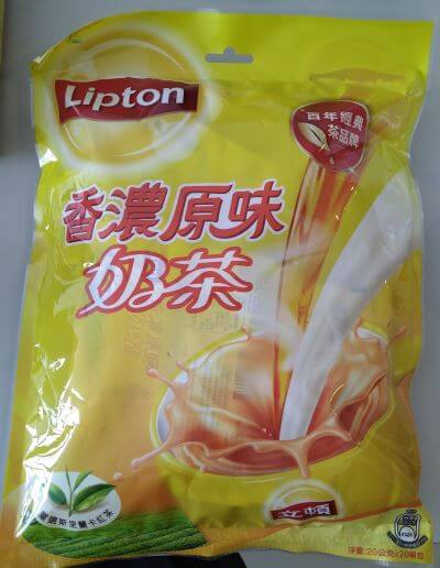 台湾リプトンのインスタントミルクティー